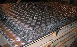 Лист алюминиевый рифленый 1.5х1500х3000мм (Квинтет) ТУ 1-801--20-2008